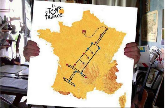 Tracé du prochain tour de France